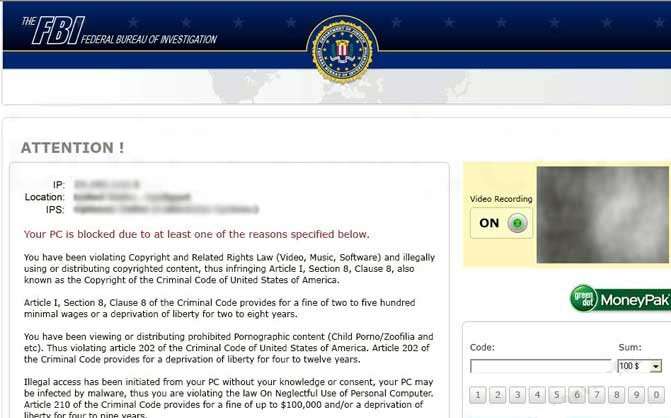 FBI Header Ransomware-