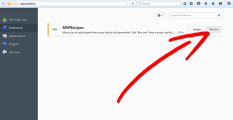firefox-extensions Fjern Microsoft.windowssupport0901.online pop-up
