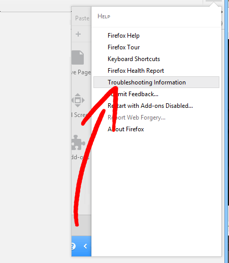 firefox-menu-help Come eliminare MyMapDirections Browser Hijacker