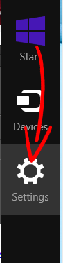 win8-charm-bar Usuń PConverter Toolbar