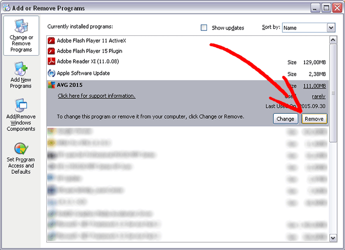 winxp-add-remove-program Eliminar Startstreaming.net