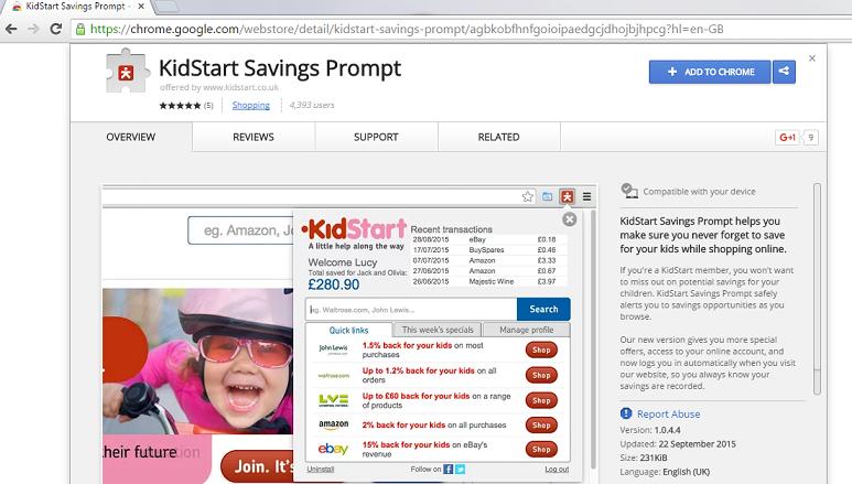 KidStart Savings Prompt-