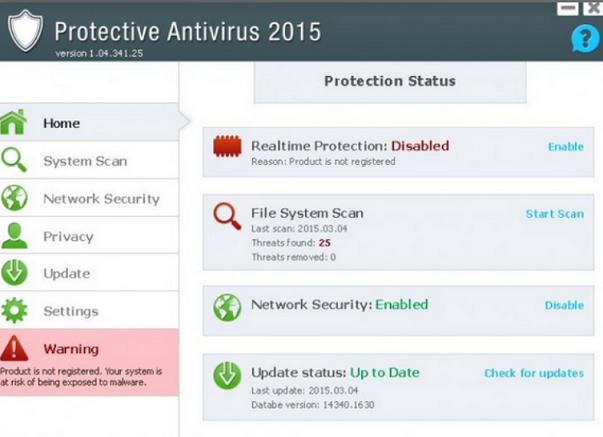 Protective Antivirus 2015-