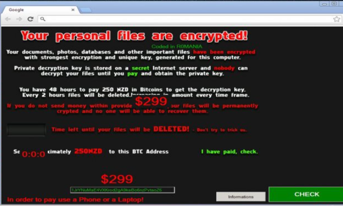 NoobCrypt ransomware virus-