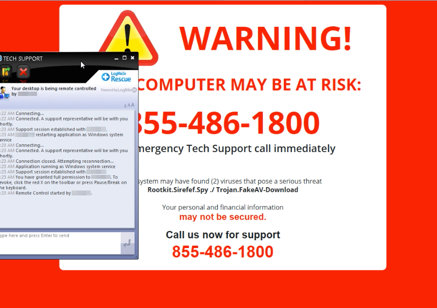 844-576-0503 Technical support scam