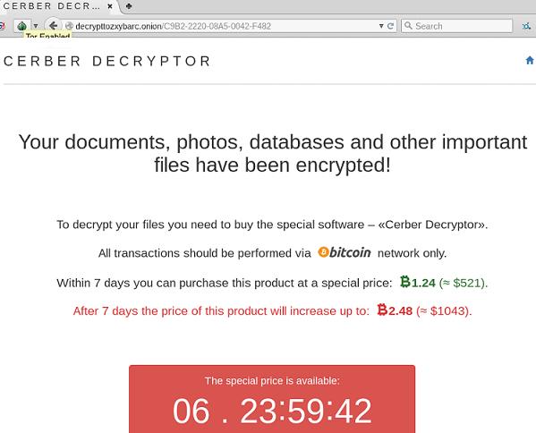Cerber Decryptor-