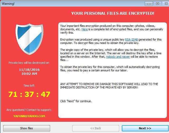 CryptoLuck ransomware-