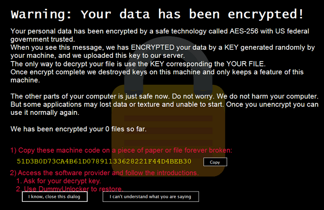 DummyCrypt Ransomware-removal