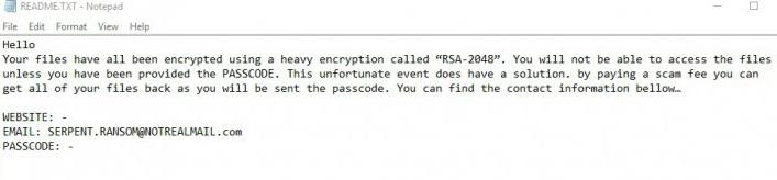 serpent-ransomware-