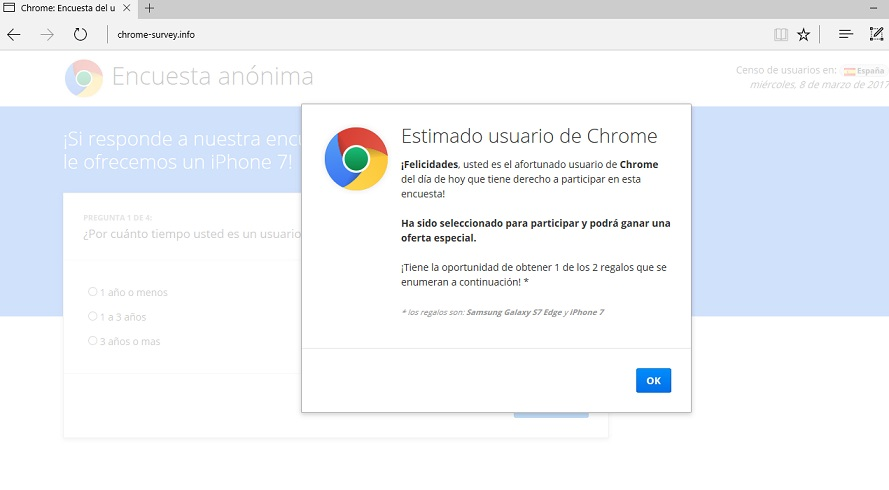 Chrome-survey.info pop-up-