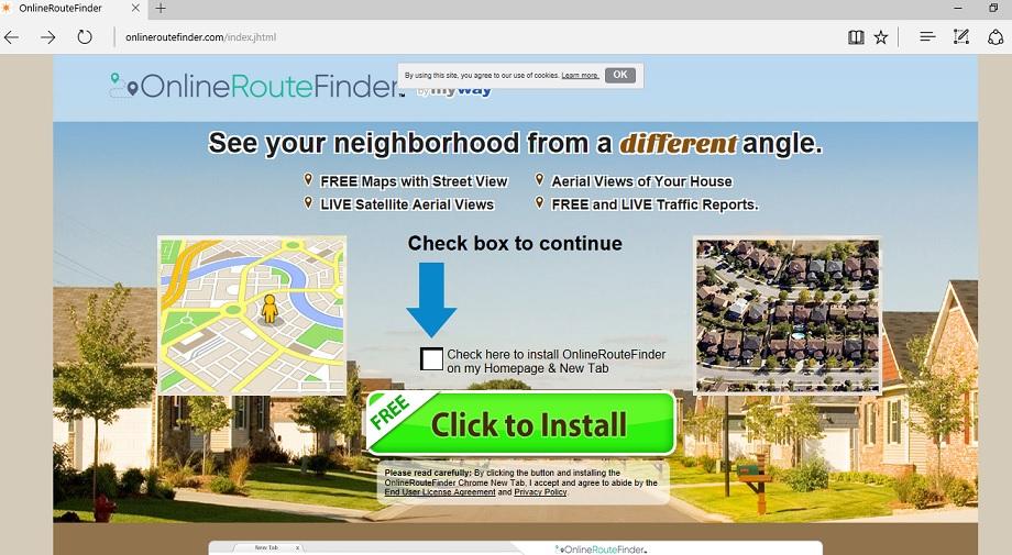 OnlineRouteFinder Toolbar-