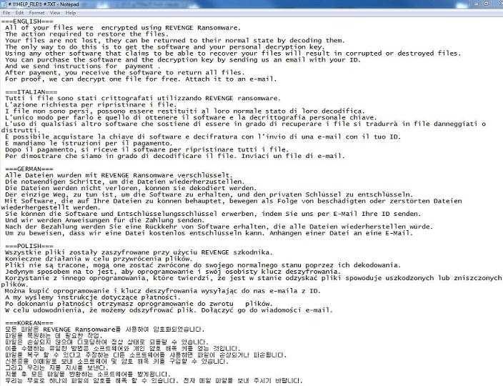 Revenge ransomware-removal