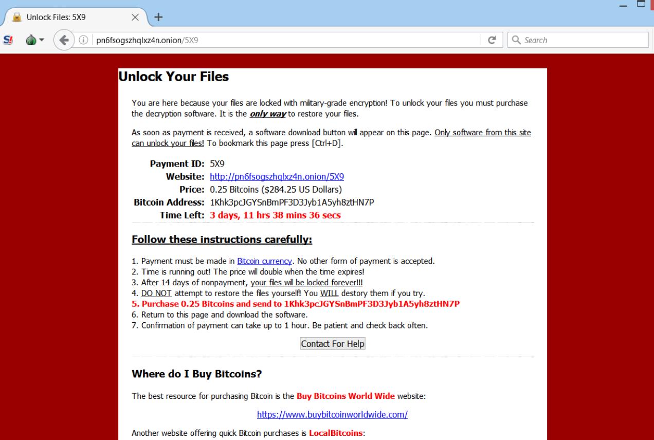 Cradle ransomware virus