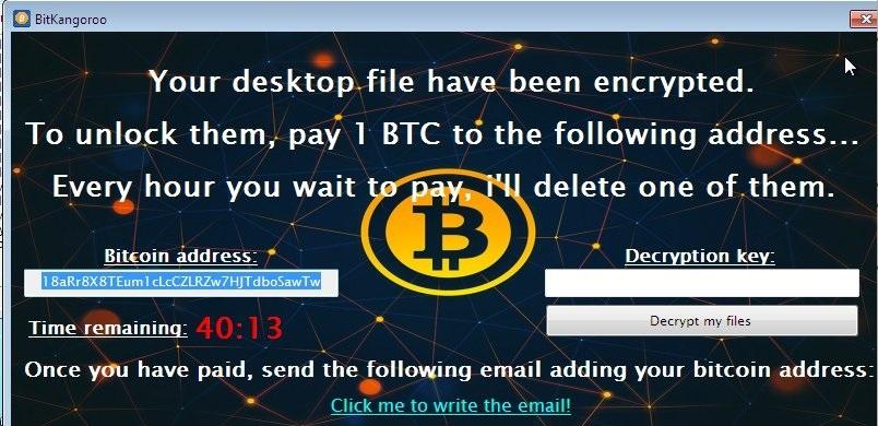 BitKangoroo Ransomware-virus