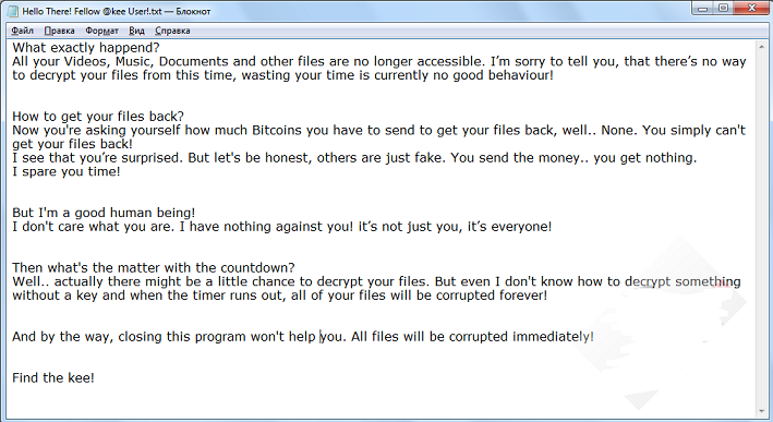Kee ransomware-removal