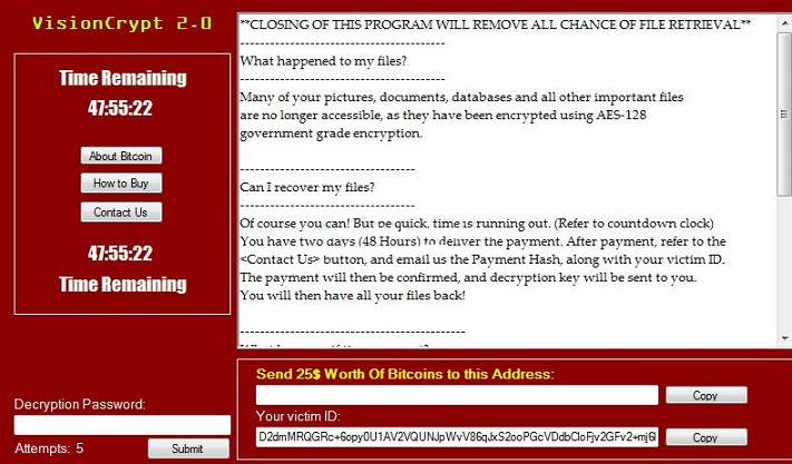 VisionCrypt ransomware-
