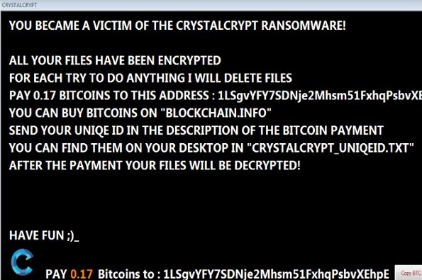 CrystalCrypt ransomware-
