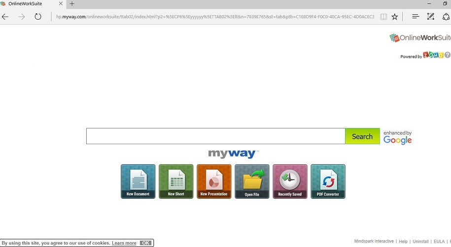 OnlineWorkSuite Toolbar-