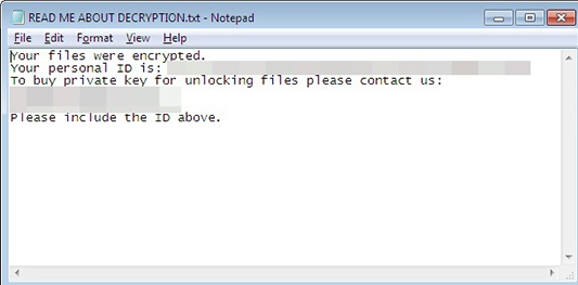 Sorebrect ransomware-