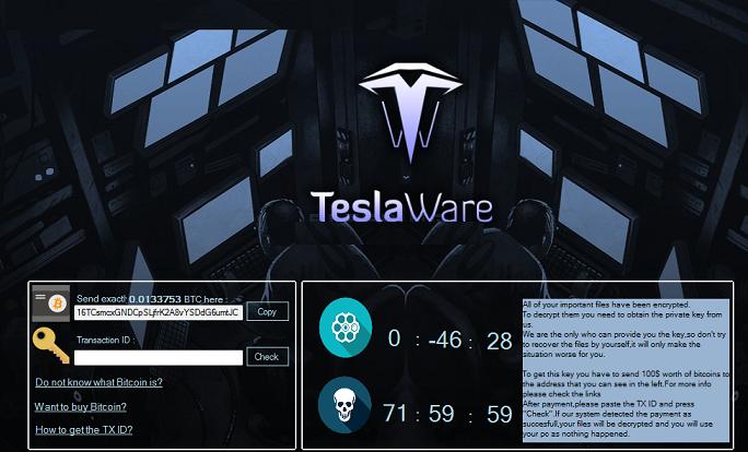 TeslaWare Ransomware-