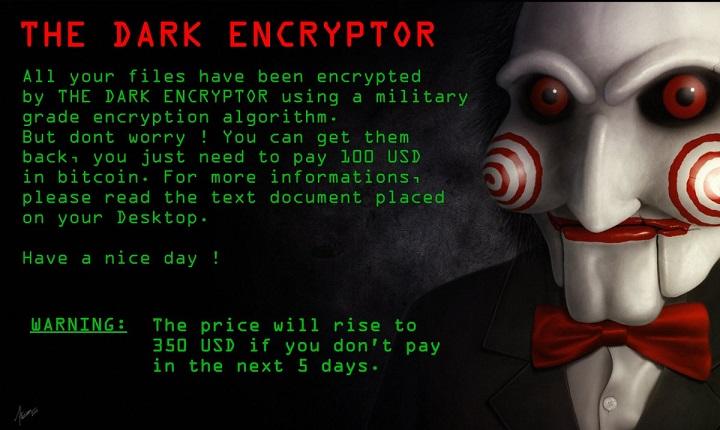 TheDarkEncryptor ransomware-