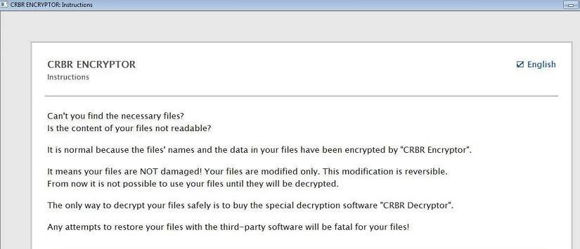 Crbr Encryptor ransomware-removal