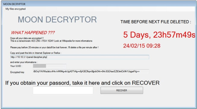 MoonCryptor ransomware virus