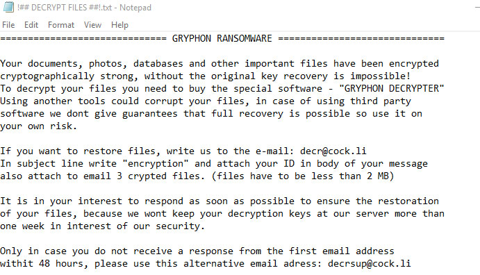 gryphon-ransomware