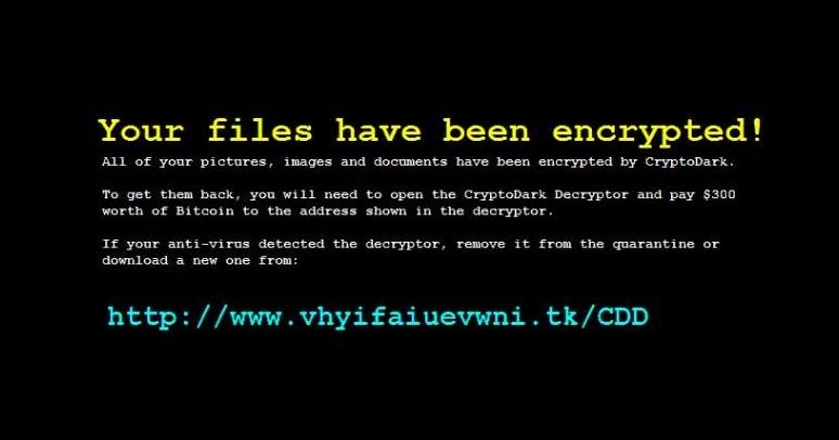 CryptoDark-ransomware-removal
