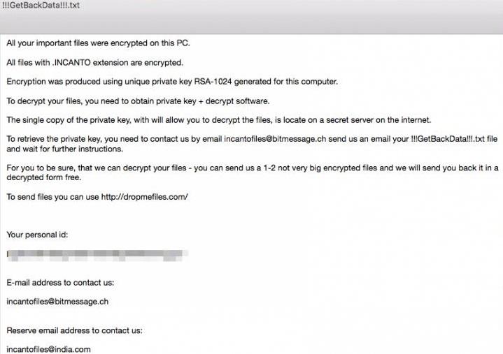 INCANTO-ransomware-removal