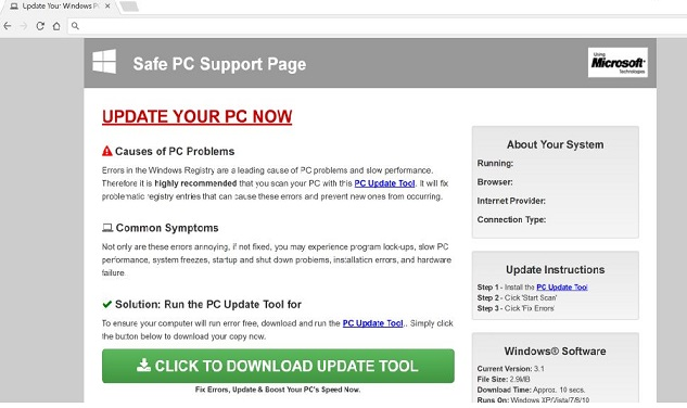 'Safe PC Support Page' Pop-Ups-
