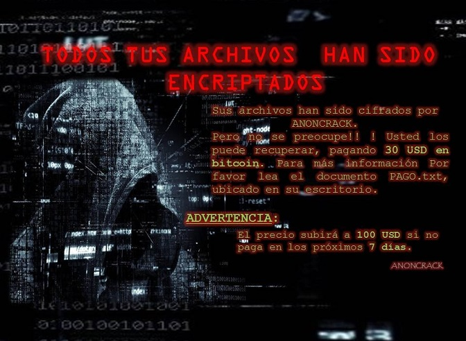 AnonCrack ransomware-