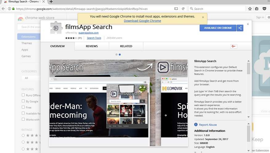 FilmsApp Search-