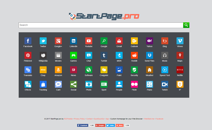 StartPage Redirect Virus-