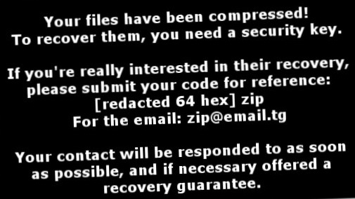 ZIP ransomware-