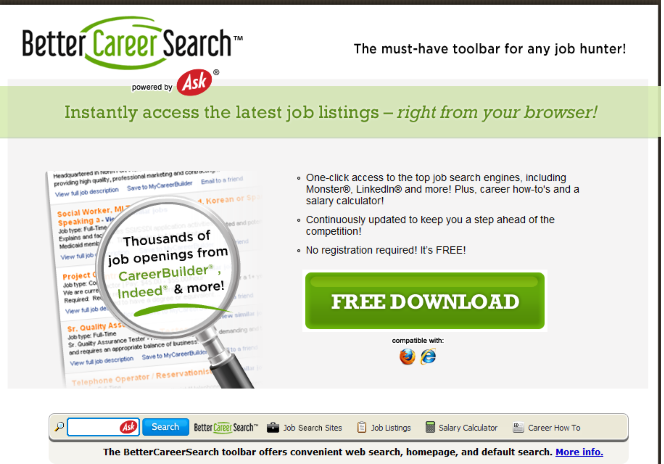 Better Career Search Toolbar