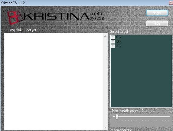 Kristina ransomware-