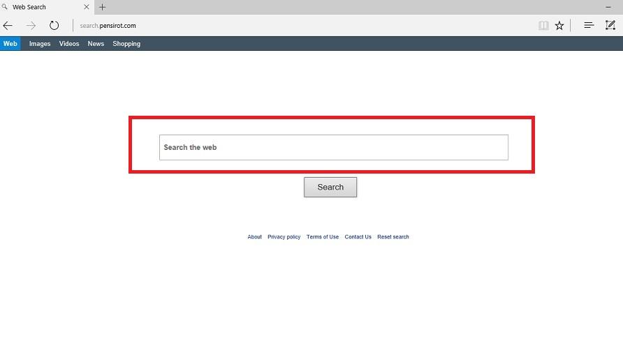 Search.pensirot Redirect Virus-