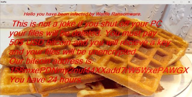 Waffle ransomware-